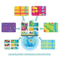 Gis concept data layers for infographic vector