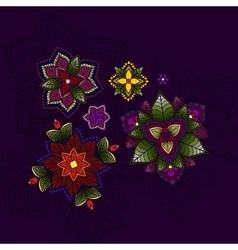 Hand drawn Mandala circular colored pattern for vector image
