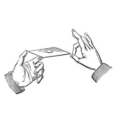 Inertia demonstration with the middle finger vector