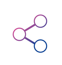 line social media share technology connection vector image