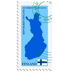 mail to-from Finland vector image vector image
