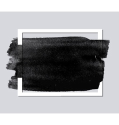 Paper frame with brush stroke vector