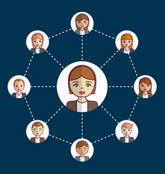 People network design vector