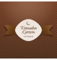 Ramadan kareem eid mubarak religious banner vector