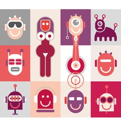 Robot heads vector