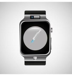 Smart watch health technology vaccination vector