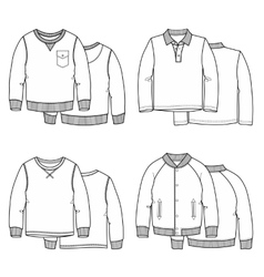 Sweaters white vector image