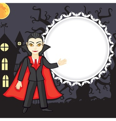 vampire background vector image vector image