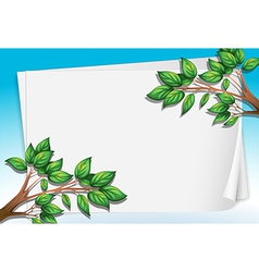 An empty paper with trees vector