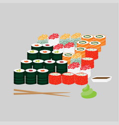 Traditional japanese lunch concept vector