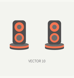 Plain flat color computer part icon audio vector