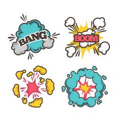 Bang and boom signs vector
