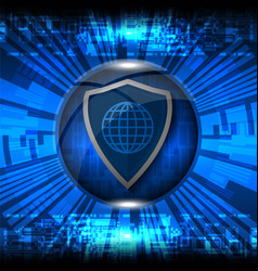 Cyber security shield vector