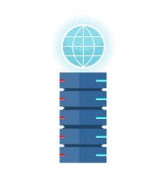 Internet server concept in flat design vector