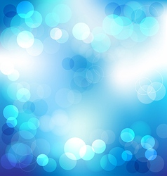 Blue elegant abstract background with bokeh lights vector