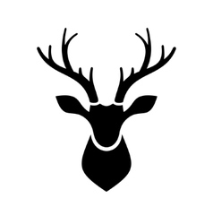 Deer head icon logo vector