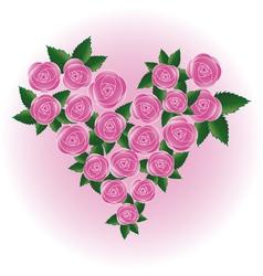 rose heart flower vector image
