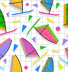 Retro vintage summer fun 80s pattern background vector