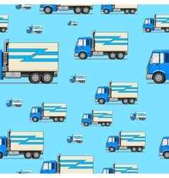 Seamless pattern truck vector
