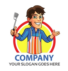 Cooking man logo vector
