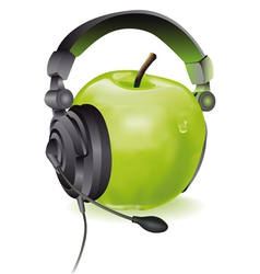 Apple headphones vector