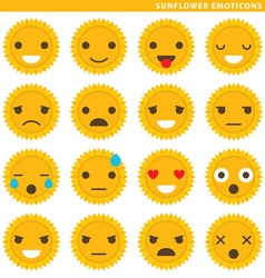 Sunflower emoticons vector