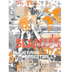 Basketball SlamJam vector image