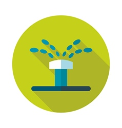 Water sprinkler irrigation flat icon vector