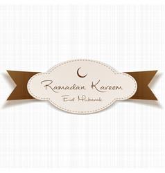 Ramadan kareem eid mubarak religious emblem vector