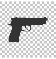 Gun sign  dark gray icon on vector