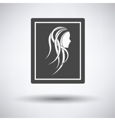 Portrait art icon vector