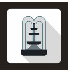 Fountain icon flat style vector