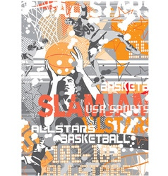 Basketball slamjam vector