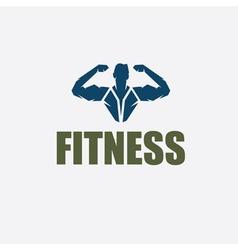 Bodybuilder Fitness Model silhouette design vector image vector image