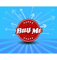 Buy me label with arrows on the background vector image vector image