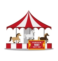 Carousel of carnival design vector