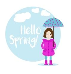 Cartoon girl character Spring vector image vector image