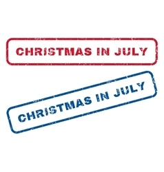 Christmas in july rubber stamps vector