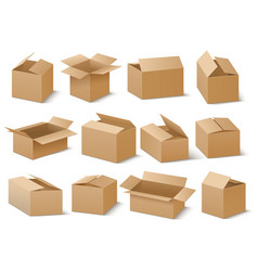 delivery and shipping carton package brown vector image