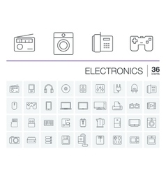 electronics and multimedia icons vector image vector image