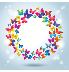 Frame with butterflies vector image vector image