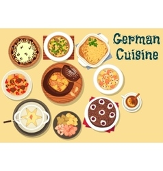 German cuisine festive christmas dinner icon vector