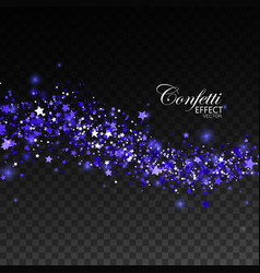 Glittering blue stream of sparkles vector