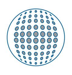 golf ball sport vector image vector image