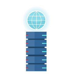 internet server concept in flat design vector image vector image