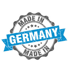 Made in germany round seal vector