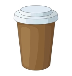 Paper cup of coffee icon cartoon style vector