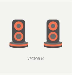 Plain flat color computer part icon audio vector