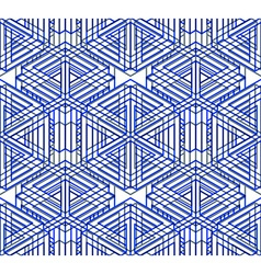 Regular colorful endless pattern with intertwine vector