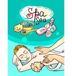 Relax spa massage vector